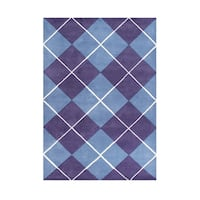 Alliyah Handmade New Zealand Blend Wool Casual Purple Geometric Rug - 8' x 10'