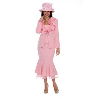 Giovanna Signature Women's Brocade and Organza 2-piece Skirt Suit