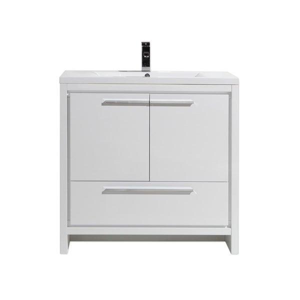 shop moreno bath mod 36 inch free standing modern bathroom vanity with reinforced acrylic sink. Black Bedroom Furniture Sets. Home Design Ideas