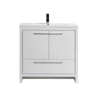 Moreno Bath MOD 36 Inch Free Standing Modern Bathroom Vanity With Reinforced Acrylic Sink