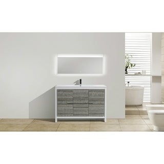 Moreno Bath MOD 48 Inch Free Standing Modern Bathroom Vanity with Reinforced Acrylic Sink