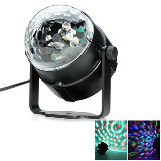 Black and Transparent 3W LED RGB Crystal-ball-shaped Stage Light Cover