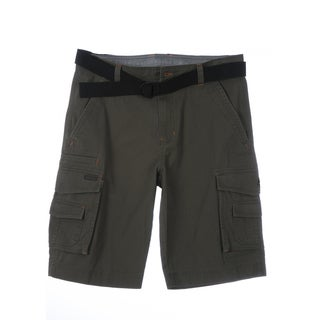 Smith's Workwear Men's Cotton Belted Light-weight Twill Cargo Shorts