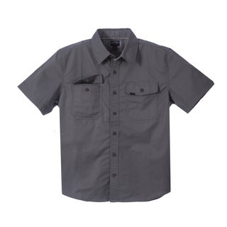 Smith's Workwear Men's Short Sleeve Twill Work Shirt (Option: Khaki)
