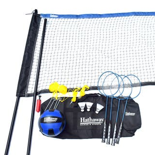 Hathaway Volleyball/Badminton Complete Combo Set https://ak1.ostkcdn.com/images/products/14777280/P21299522.jpg?impolicy=medium