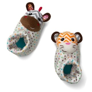 Infantino Zebra and Tiger Foot Rattles