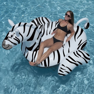 Giant Zebra 97-in Inflatable Ride-on Pool Toy
