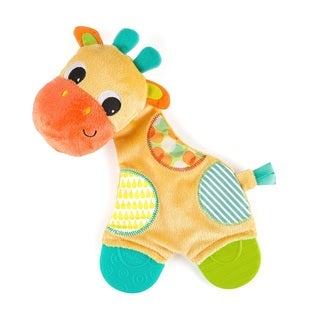 Bright Starts Multicolored Giraffe Snuggle Teethe Plush Toy