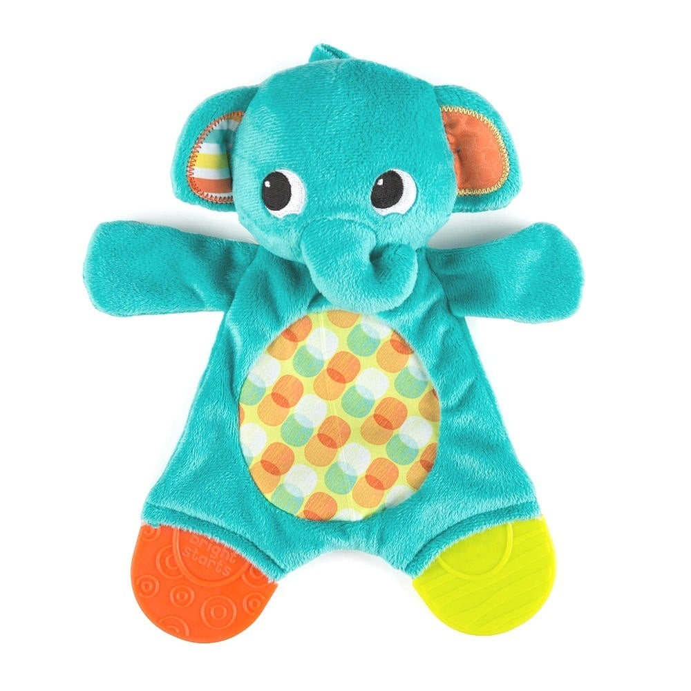 Bright Starts Elephant Snuggle Teether Plush Toy (Multico...