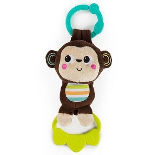 Bright Starts Newborn Monkey Tug Tunes Musical Plush Toy