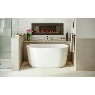 Aquatica Lullaby-Nano-Wht Small Freestanding Solid Surface Bathtub