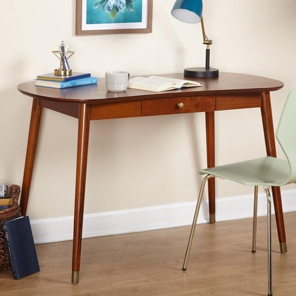 2fb3c58b219e Shop Simple Living Auburn Mid-Century Desk - On Sale - Free Shipping Today  - Overstock - 14777462