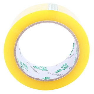 Light Yellow/Transparent 45-millimeter x 13-millimeter Adhesive Packaging Tape Rolls (Case of 18)