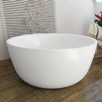 Aquatica PureScape 720 Round Freestanding Solid Surface Bathtub