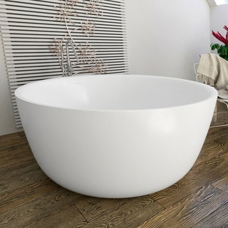 Aquatica PureScape 720 Round Freestanding Solid Surface Bathtub