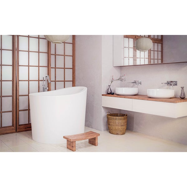 shop aquatica true ofuro mini freestanding stone japanese soaking