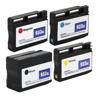HP 932/933XL Ink Remanufactured 1BL/1C/1M/1Y Cartridge (Pack of 8)