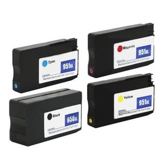 HP 950/951XL 1BL/1C/1M/1Y Remanufactured Ink Cartridges (Pack of 4)