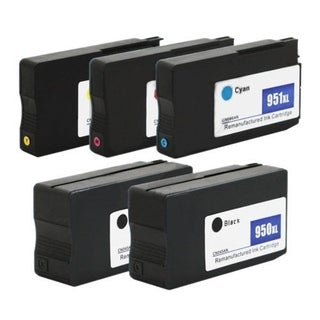 950XL 951XL Ink Cartridges for HP Officejet Pro 8610 8600 Plus (Set of 5)