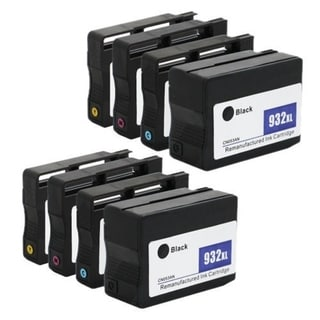 Remanufactured HP 932/933XL Ink Cartridges (Pack of 8)