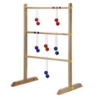 Solid Wood Ladder Toss Game Set