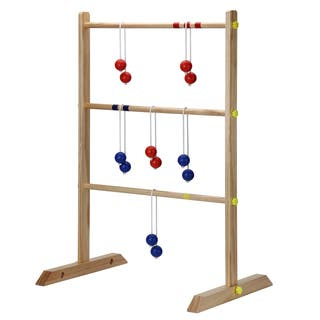 "Solid Wood Ladder Toss Game Set - Blue/Brown/Red - 39.75""L x 27.5""W x 23.65""H"