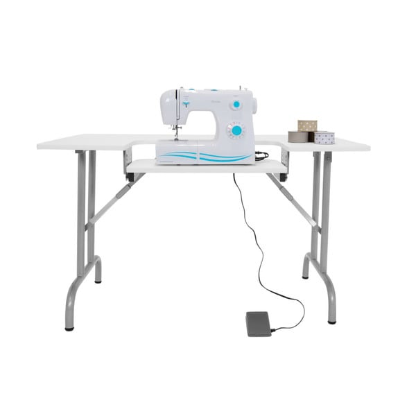 Sewingrite Multipurpose Craft Center Height Adjule Folding Sewing Table White