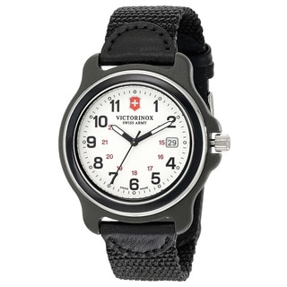 Victorinox Swiss Army Men's Black Nylon Original XL 249086 Swiss Quartz Analog Watch