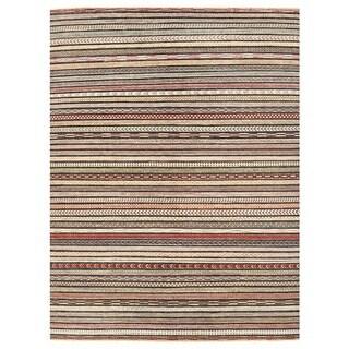 Herat Oriental Afghan Hand-knotted Vegetable Dye Gabbeh Wool Rug (6'2 x 8'2)