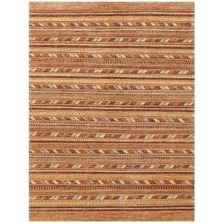 Herat Oriental Afghan Hand-knotted Vegetable Dye Gabbeh Wool Rug (5'8 x 7'7)