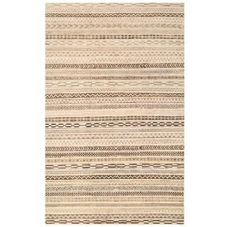 Herat Oriental Afghan Hand-knotted Vegetable Dye Gabbeh Wool Rug (5'11 x 9'5)