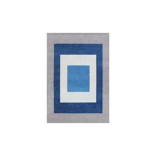 Alliyah Handmade New Zealand Blend Wool Casual Grey Geometric Rug ( 5' x 8' )