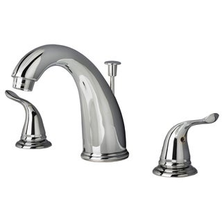 Builders Shoppe 2110 Contemporary Two Handle Widespread Lavatory Faucet with Pop-Up Drain