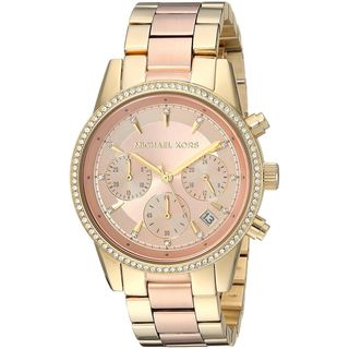 Michael Kors Women's MK6475 'Ritz' Chronograph Crystal Two-Tone Stainless Steel Watch