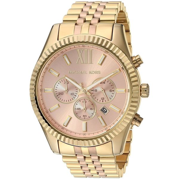 559cff2a8e9e Shop Michael Kors Women s MK6473  Lexington  Chronograph Two-Tone Stainless  Steel Watch - Free Shipping Today - Overstock - 14777671