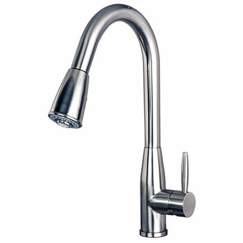 "Builders Shoppe 1150 Contemporary Single Handle 16"" Pull-Down Kitchen Faucet"