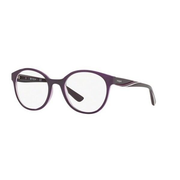 46cbc7f51ee1 Vogue Women  x27 s VO5104F 2409 51 Round Plastic Purple Clear Eyeglasses