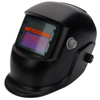WS-107 Solar Powered Auto Darkening Welding Helmet Black