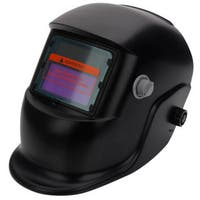 WS-107 Solar Powered Auto Darkening Welding Helmet Black