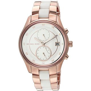Michael Kors Women's MK6467 'Briar' Multi-Function Two-Tone Stainless steel and Silicone Watch