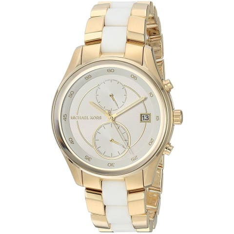 Michael Kors Women's MK6466 'Briar' Multi-Function Two-Tone Stainless steel and Silicone Watch