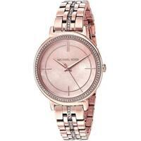 Michael Kors Women's MK3643 'Cinthia' Crystal Rose-Tone Stainless Steel Watch