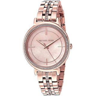 Michael Kors Women's 'Cinthia' Crystal Rose-Tone Stainless Steel Watch