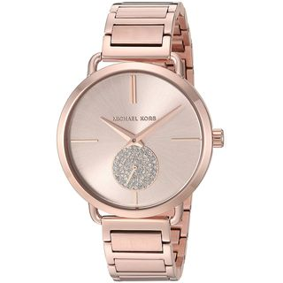 Michael Kors Women's MK3640 'Portia' Crystal Rose-Tone Stainless Steel Watch