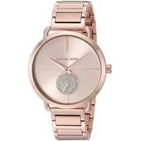 Michael Kors Women's  'Portia' Crystal Rose-Tone Stainless Steel Watch