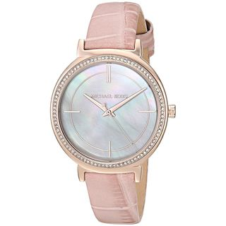 Michael Kors Women's MK2663 'Cinthia' Crystal Pink Leather Watch