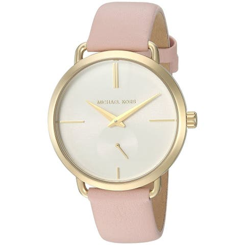 Michael Kors Women's MK2659 'Portia' Pink Leather Watch