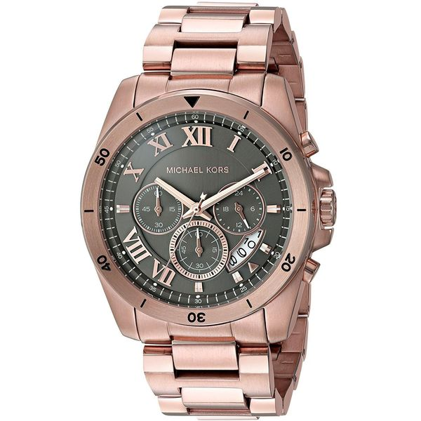 21f4667a5b9c Shop Michael Kors Men s  Brecken  Chronograph Rose-Tone Stainless Steel  Watch - Free Shipping Today - Overstock - 14777953