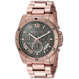 Michael Kors Men's MK8563 'Brecken' Chronograph Rose-Tone Stainless Steel Watch