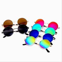 Round Hippie Metal Frame Sunglasses